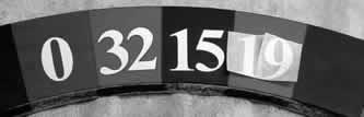 La disposizione dei numeri